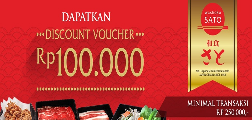 Discount Voucher Japanese Restaurant Promotion
